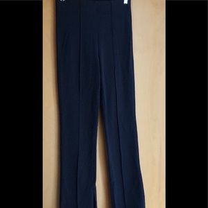 Athleta navy blue seamed pants slit at ankle small